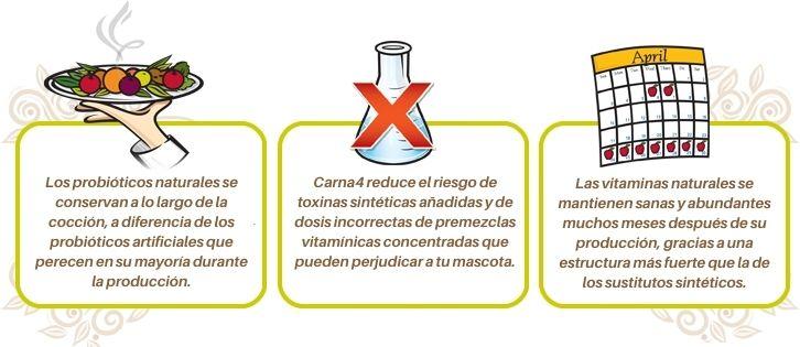 Carna4 pienso para mascotas sin aditivos sintéticos